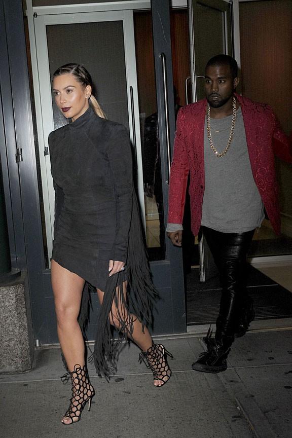 Kim Kardashian et Kanye West à New-York le 23 novembre 2013