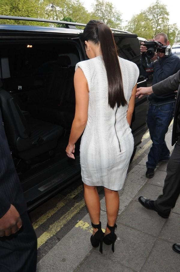 Kim Kardashian à la sortie de son hôtel le 16 mai