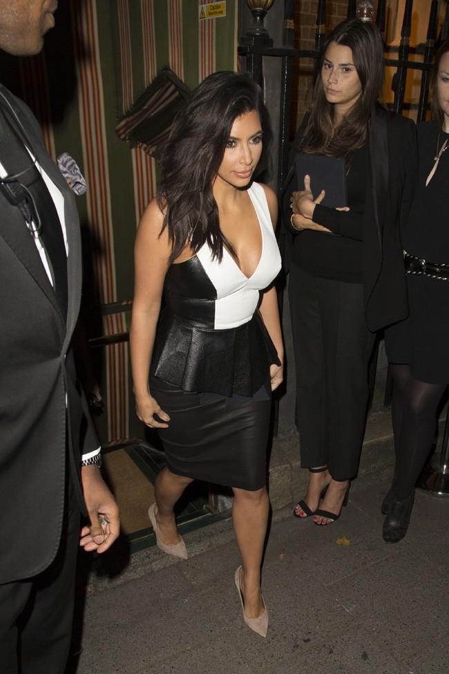 Kim Kardashian à Londres le 3 septembre 2014
