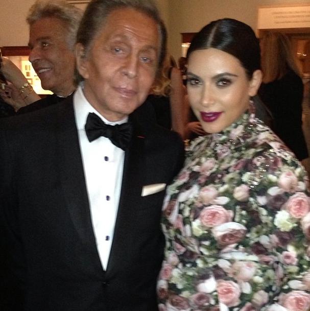 Kim et Valentino Garavani