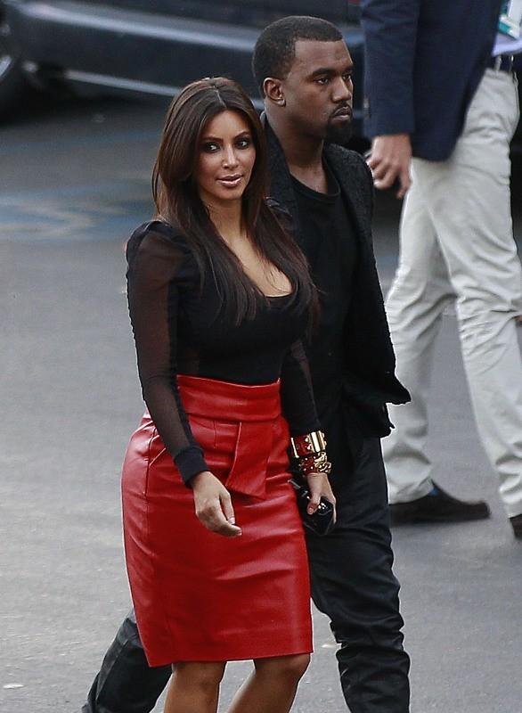 Kanye West et Kim Kardashian à Los Angeles, le 21 novembre 2012.