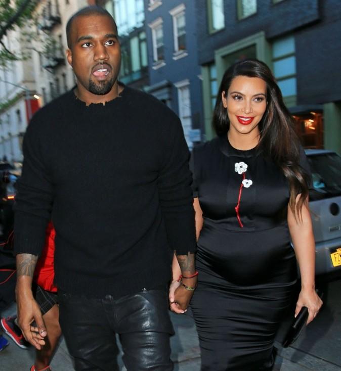 Kim Kardashian et Kanye West le 5 mai 2013 à New York
