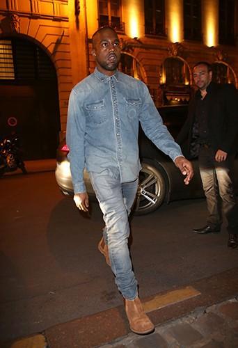 Kanye West à Paris le 18 mai 2014