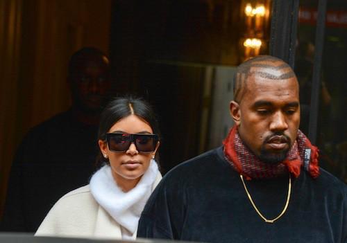 Kim Kardashian et Kanye West à Paris, le 24 septembre 2014