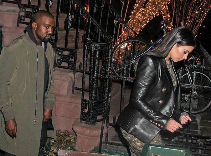 Kim Kardashian et Kanye West à New York le 25 mars 2014