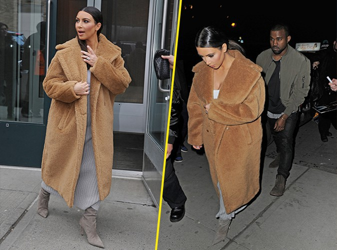 Kim Kardashian et Kanye West à New-York le 25 février 2014