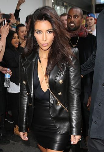 Kim Kardashian et Kanye West à Melbourne le 9 septembre 2014