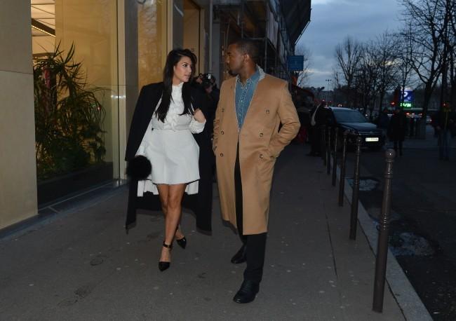 Kim Kardashian et Kanye West le 11 janvier 2013 à Paris