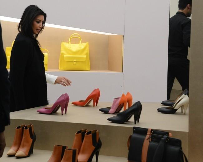 Kim Kardashian le 11 janvier 2013 à Paris