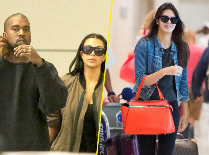 Kim Kardashian et Kanye West : déjà de retour en Californie, Kendall Jenner en solo à New-York !