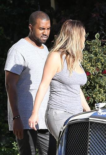 Kim Kardashian et Kanye West à Miami le 28 novembre 2013