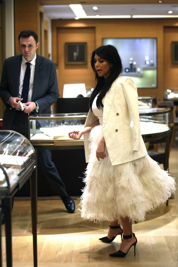 Kanye West et Kim Kardashian à Paris le 25 janvier 2013