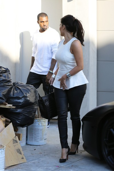Kim Kardashian et Kanye West à Hollywood, le 11 juillet 2012.