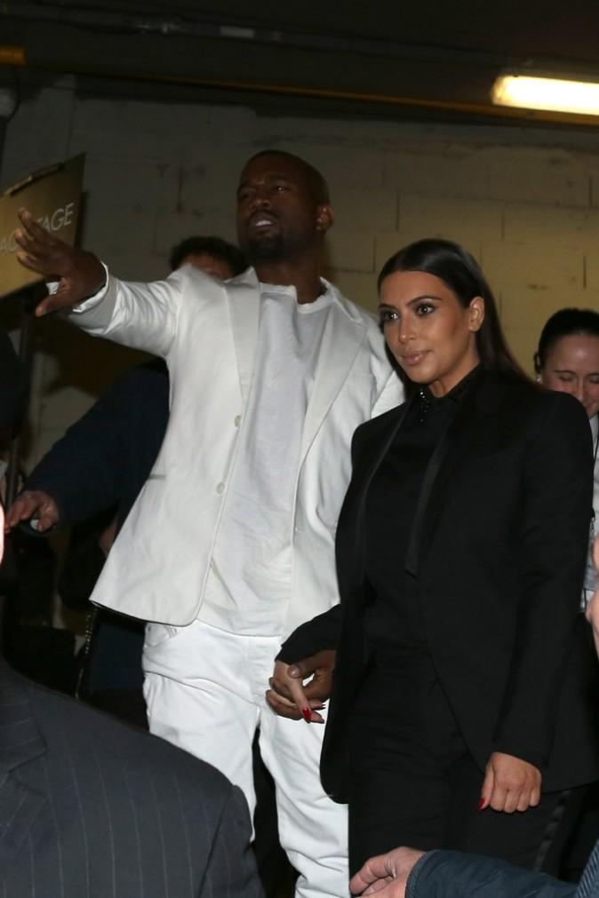 Kanye West et Kim Kardashain au défilé Givenchy à Paris le 3 mars 2013