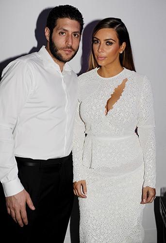 Marc Lotenberg et Kim Kardashian à Miami le 4 décembre 2013
