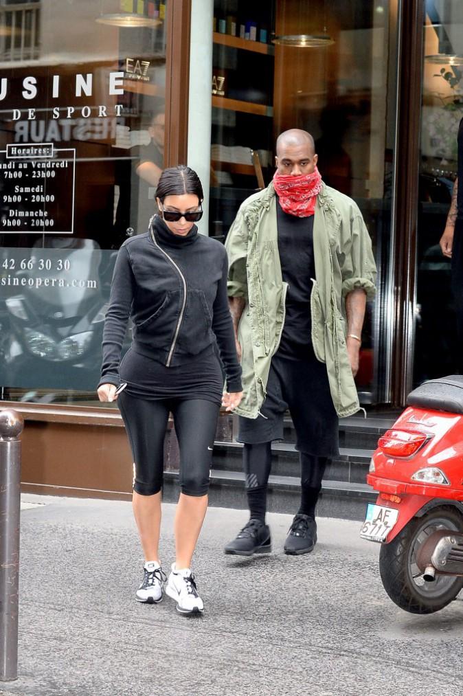 Kim Kardashian et Kanye West à Paris, le 21 mai 2014.