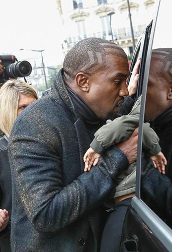 Kanye West à Paris le 24 septembre 2014