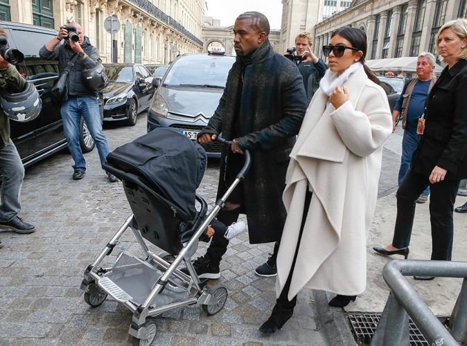 Kim Kardashian et Kanye West à Paris le 24 septembre 2014