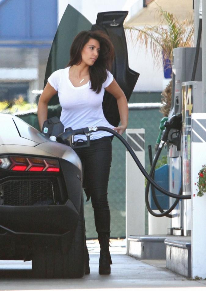 Kim Kardashian et Kanye West à Woodland Hills, le 9 juillet 2012.