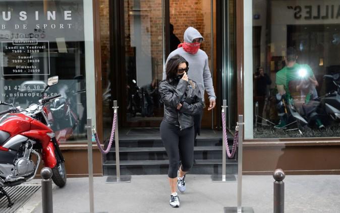 Kim Kardashian et Kanye West à Paris le 20 mai 2014