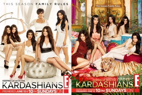 Visuels promotionnels de la saison 6 de Keeping Up With The Kardashians.