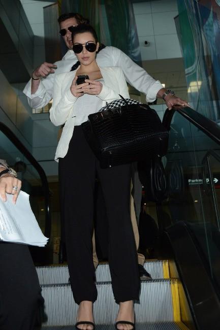 Kim Kardashian à l'aéroport de Miami, le 2 décembre 2012.