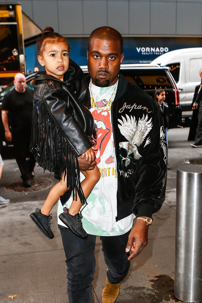 North West et son papa Kanye West
