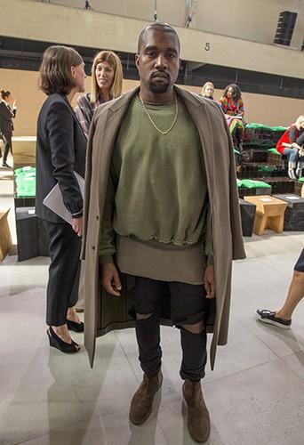Kanye West à Paris le 28 septembre 2014
