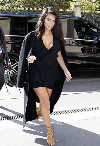 Kim Kardashian à Paris le 28 septembre 2014