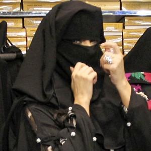 En burqa !