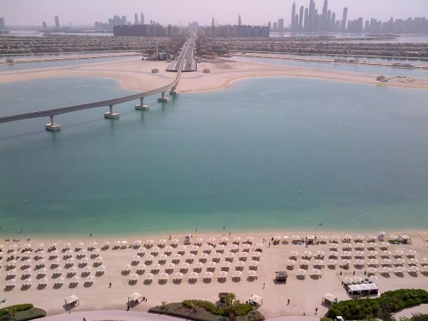 La vue de la chambre d'hôtel de Kim à Dubaï !