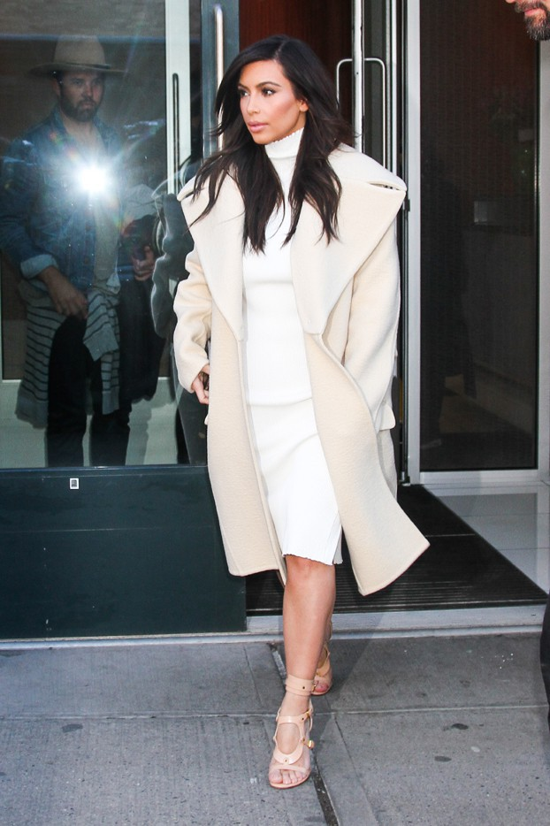 Kim Kardashian à New-York le 22 février 2014
