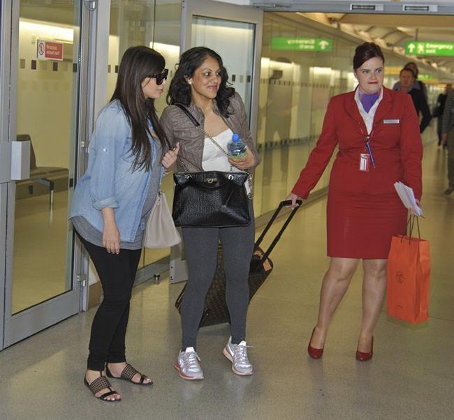 Kim Kardashian à l'aéroport d'Heathrow de Londres le 2 mai 2013