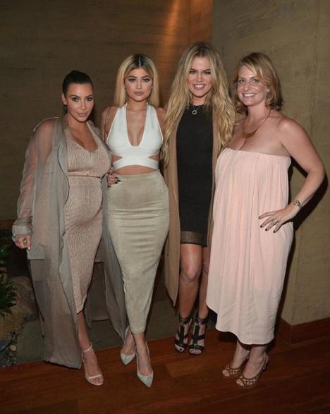 Kim, Khloe Kardashian et Kylie Jenner le 2 septembre 2015