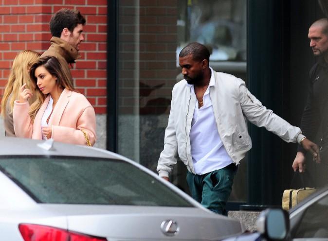 Kim Kardashian et Kanye West à New York, le 18 novembre 2013.