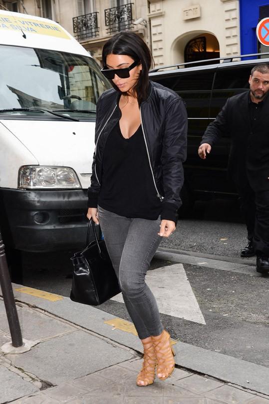 Kim Kardashian à Paris le 9 juillet 2013