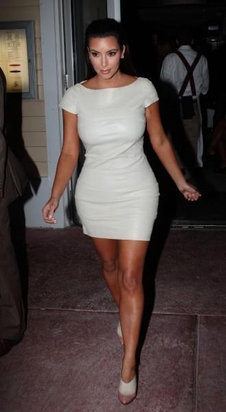Kim Kardashian à Miami, le 30 septembre 2012.