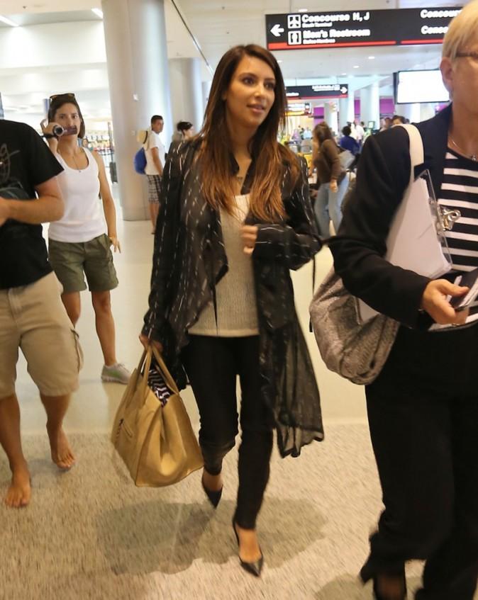 Kim Kardashian à l'aéroport de Miami, le 4 octobre 2012.