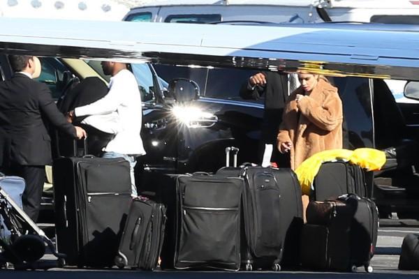 Kim Kardashian prête à faire son retour à L.A., le 2 janvier 2013 dans l'Utah.