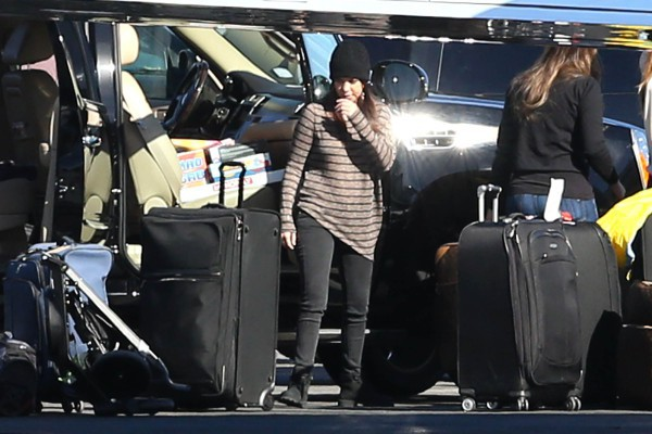 Kourtney Kardashian prête à faire leur retour à L.A., le 2 janvier 2013 dans l'Utah.