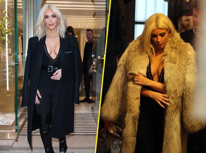Photos : Kim Kardashian : lingerie, fourrure, elle fait chauffer la carte bleue dans les boutiques parisiennes !