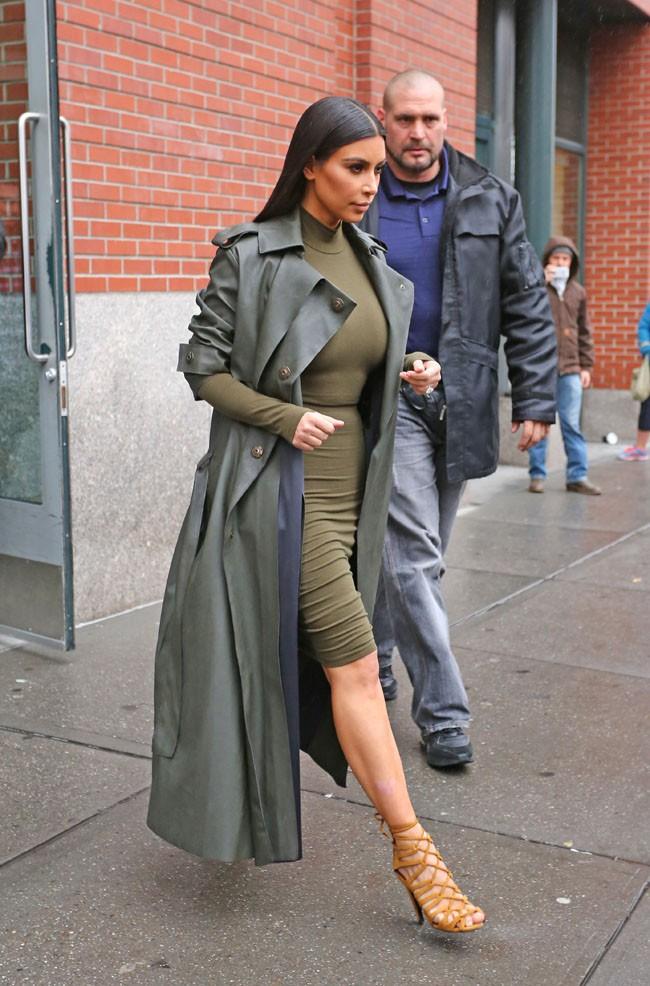 Kim Kardashian à New-York le 10 décembre 2014
