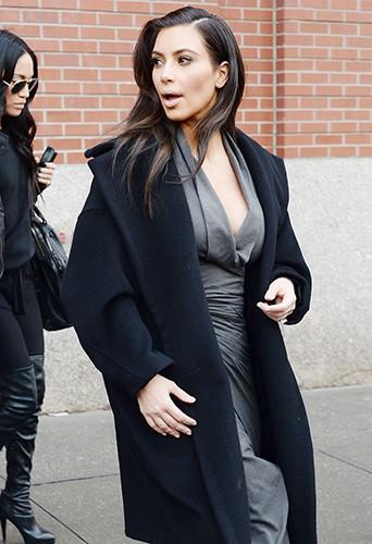 Kim Kardashian à New-York le 19 février 2014