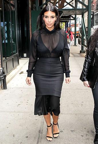 Kim Kardashian à New York le 6 mai 2014