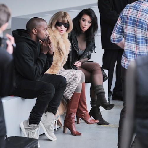 Kim Kardahsian et Anna Wintour au défilé Kanye West x Adidas le 12 février 2015