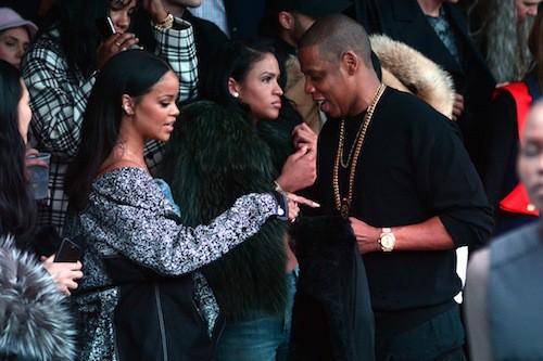 Rihanna et Jay-Z au défilé Kanye West x Adidas le 12 février 2015