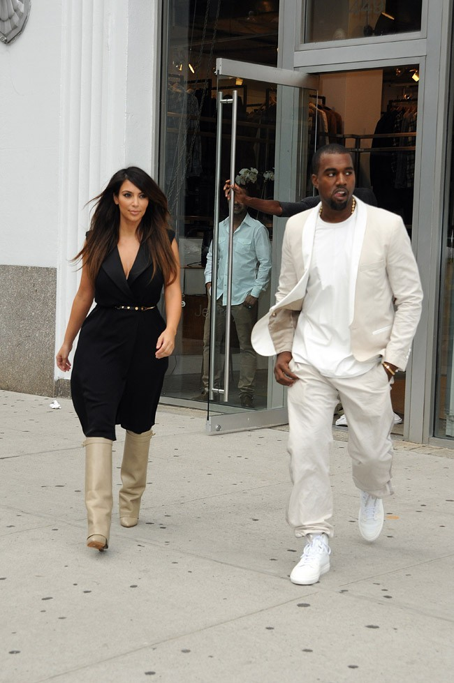 Kanye West et Kim Kardashian à New-York le 2 septembre 2012