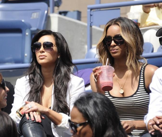 Kim Kardashian et Ciara lors du tournois de l'US Open à New York, le 8 septembre 2011.
