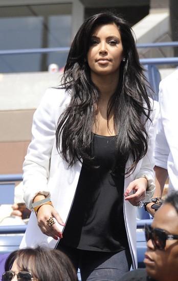 Kim Kardashian lors du tournois de l'US Open à New York, le 8 septembre 2011.