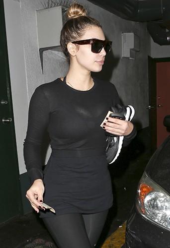 Kim Kardashian à Los Angeles le 3 janvier 2014
